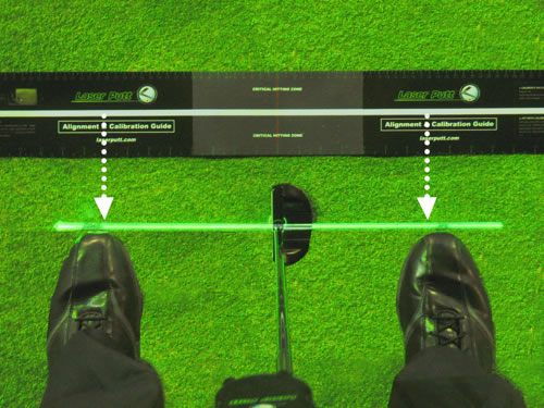 Green laser alignment with Laser Putt
