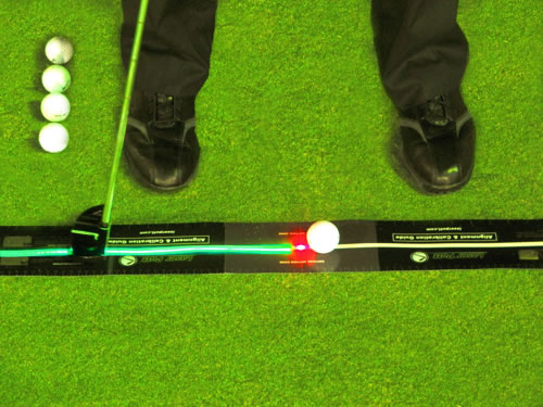 Red laser calibration with Laser Putt