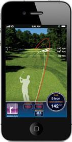 Smartphone with app screenshot