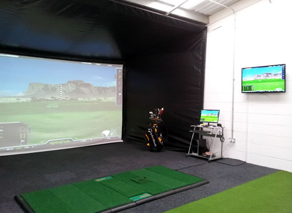Optishot Golf Simulator at the John Downie academy
