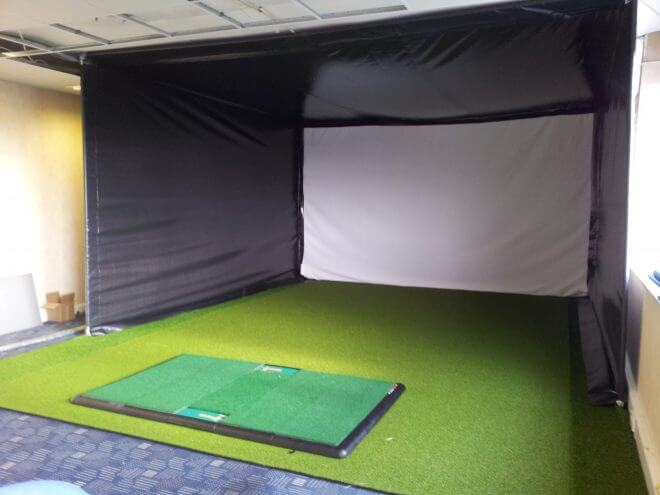 Golf Simulator Enclosure and Projection Screen