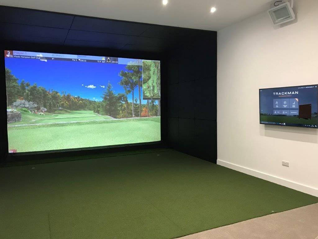 Leather Cushioned golf simulator