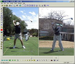 Backswing comparison between J.P. and Murray