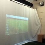 Golf simulator screen at the Ingrebourne complex