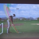 Motion Golf image screen projected