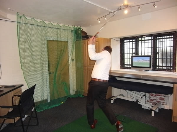 Hitting the ball in the room