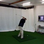 Golfer hitting inside
