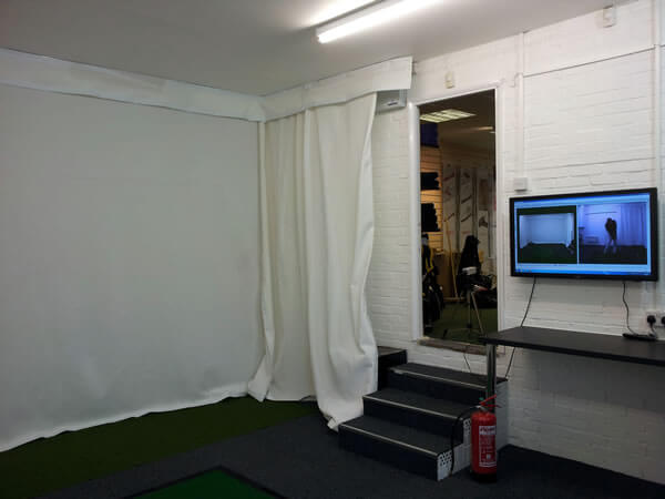 Indoor room with video coaching system
