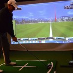 Golfer and GC2 simulator