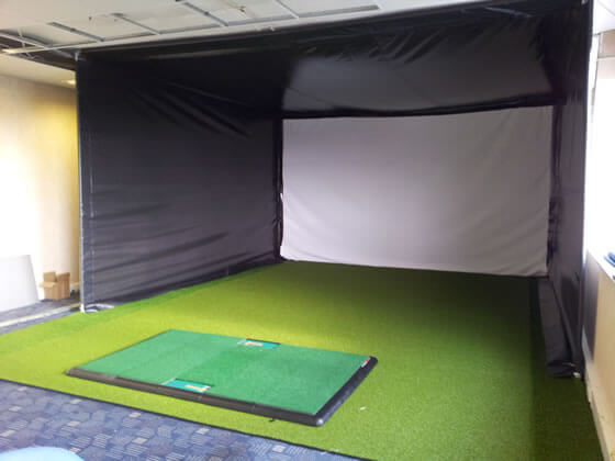 The enclosure at Dave Hicks Golf