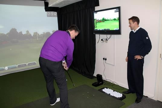 Golfers at St Neots Golf Academy