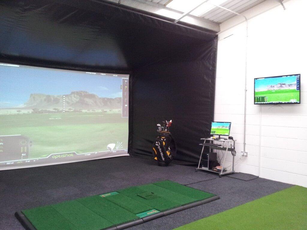Optishot2 Golf Simulator Enclosure and Projection Screen