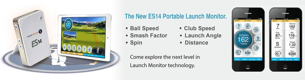 ES14 Portable Launch Monitor Slider Image