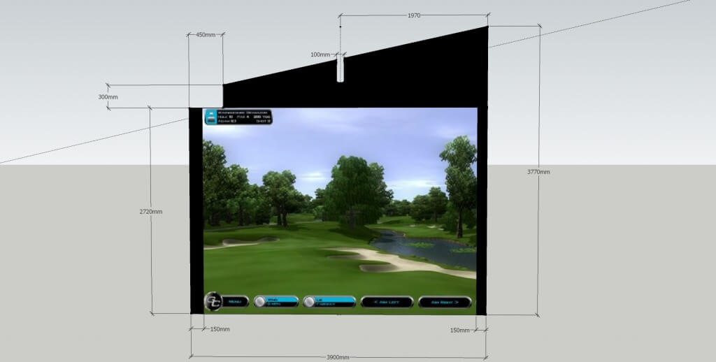 Golf Simulator Screen design