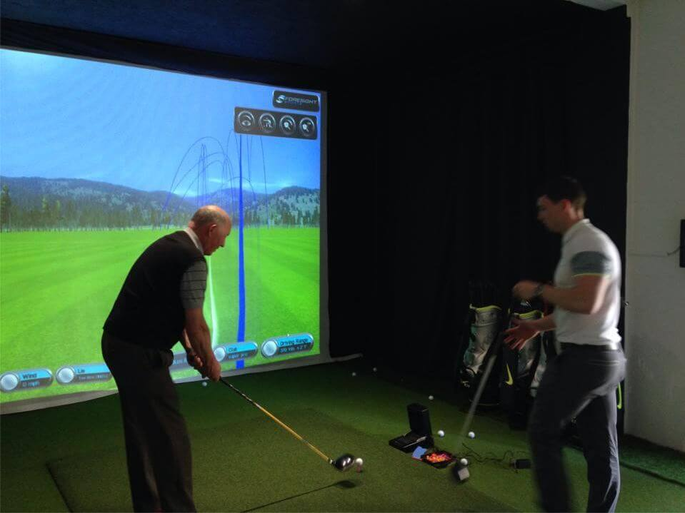 Tee Up Turf GC2 Projection Screen