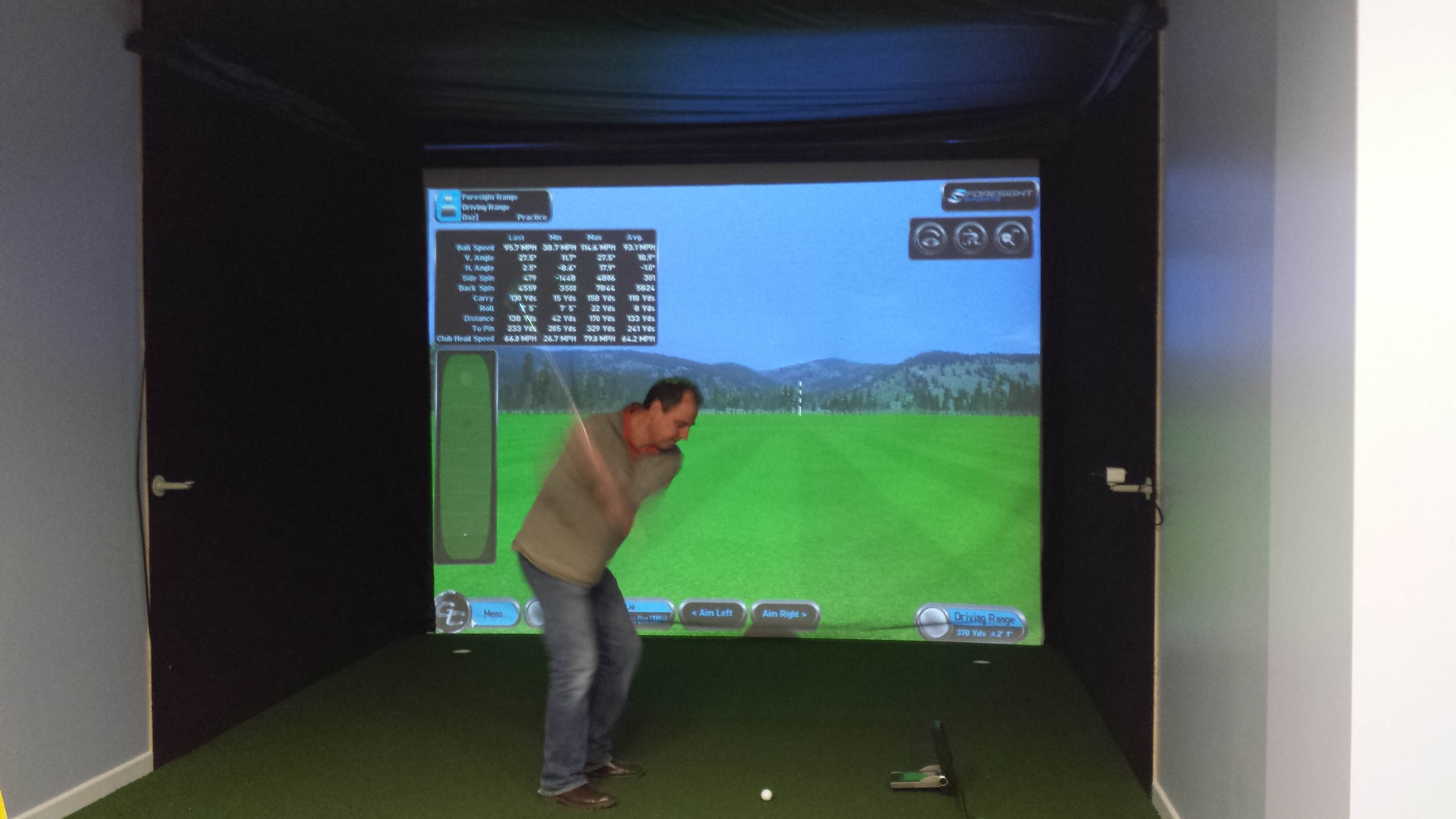 Optishot 2 Simulator Amp Screen Package Golf Swing Systems