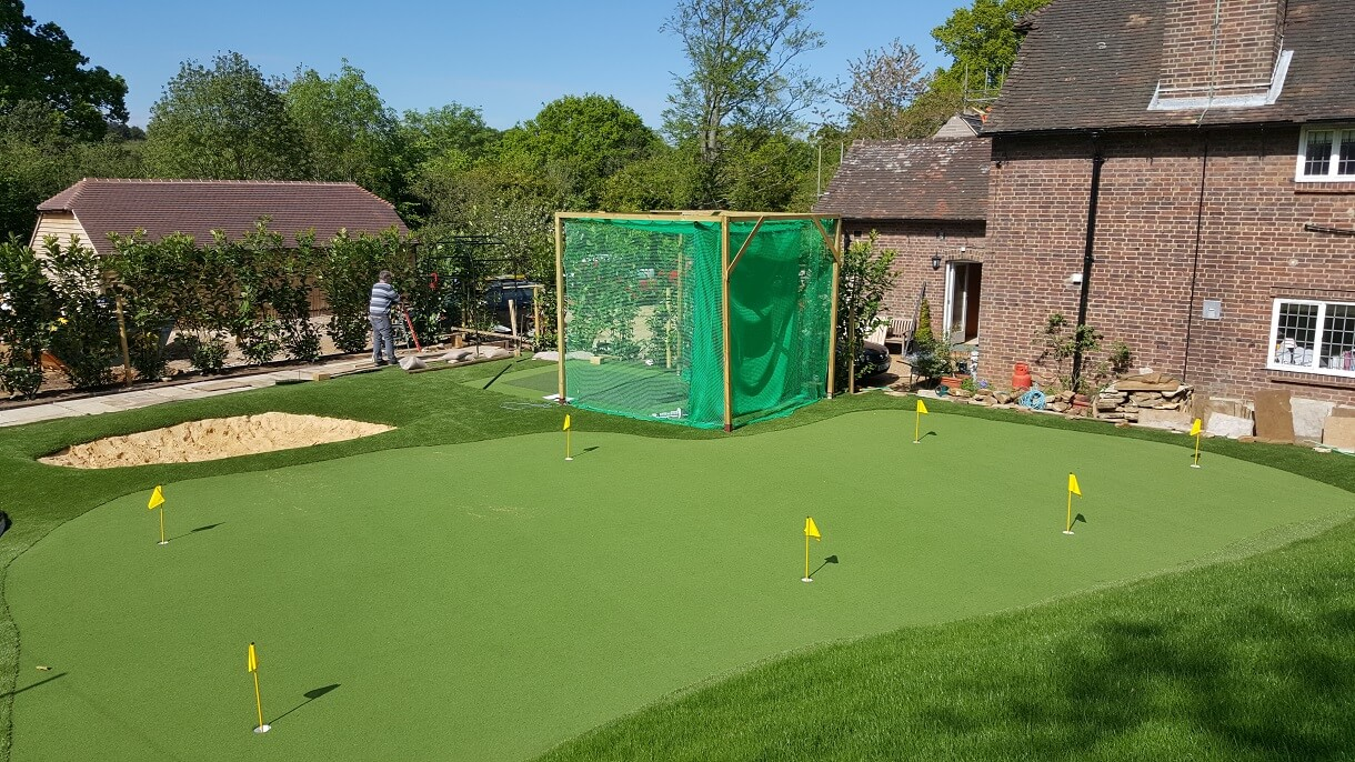 Artificial Putting Green Bunker Amp Net For A Private Client