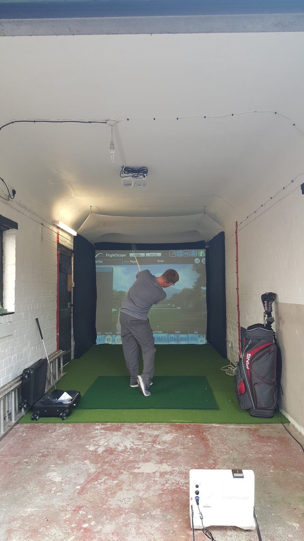 Flightscope Installation For A Private Customer In