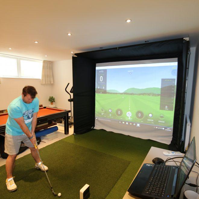 Golf Simulators: Home Golf Simulator Enclosure