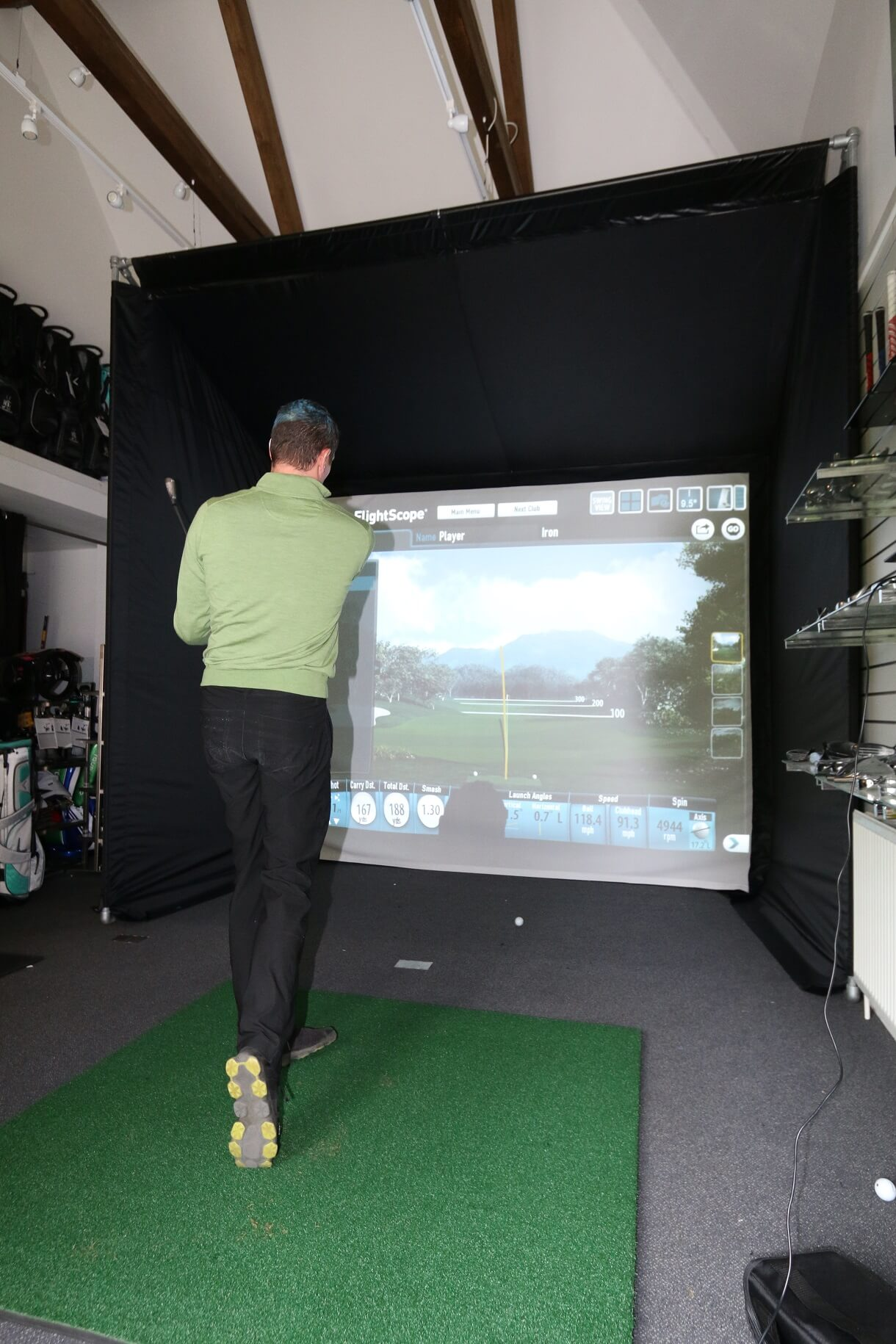 Worplesdon Golf Club S New Golf Simulator Enclosure