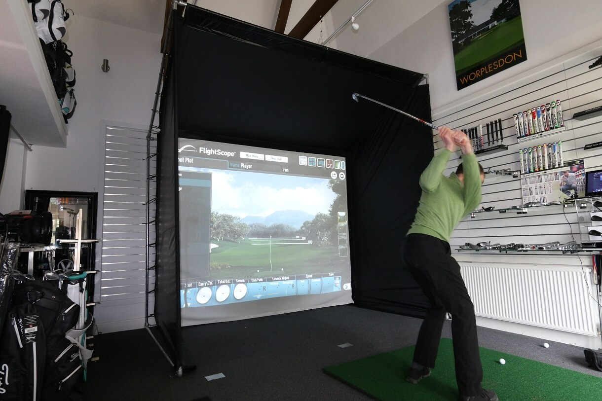 Indoor Golf Simulator Enclosure