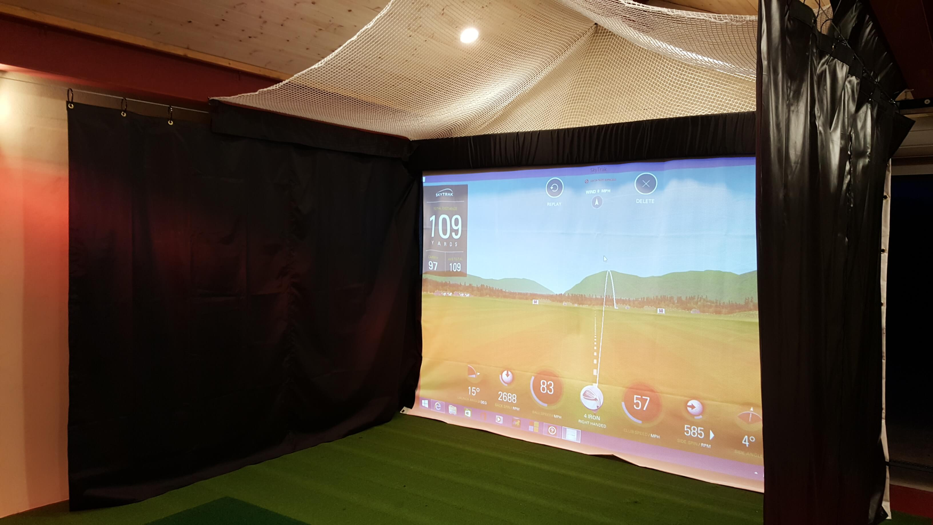 Indoor Home Garage Golf Simulator In Windermere Golf