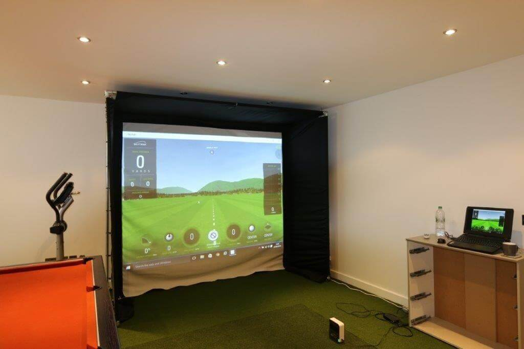 Skytrak Home Golf Simulator Enclosure Golf Swing Systems