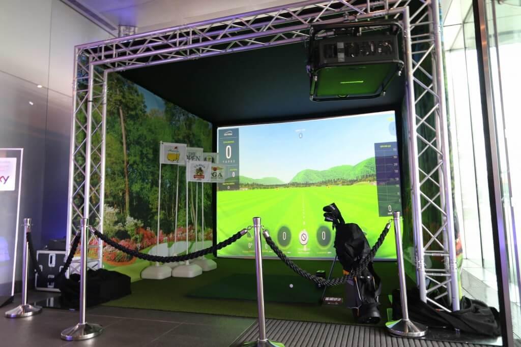 Skytrak simulator and enclosure install for sky sports for Indoor golf design
