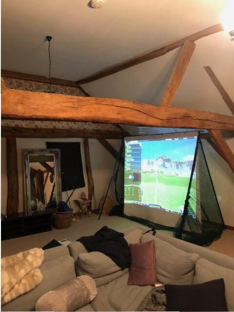 Foldaway Standard Golf Net with Projection Screen