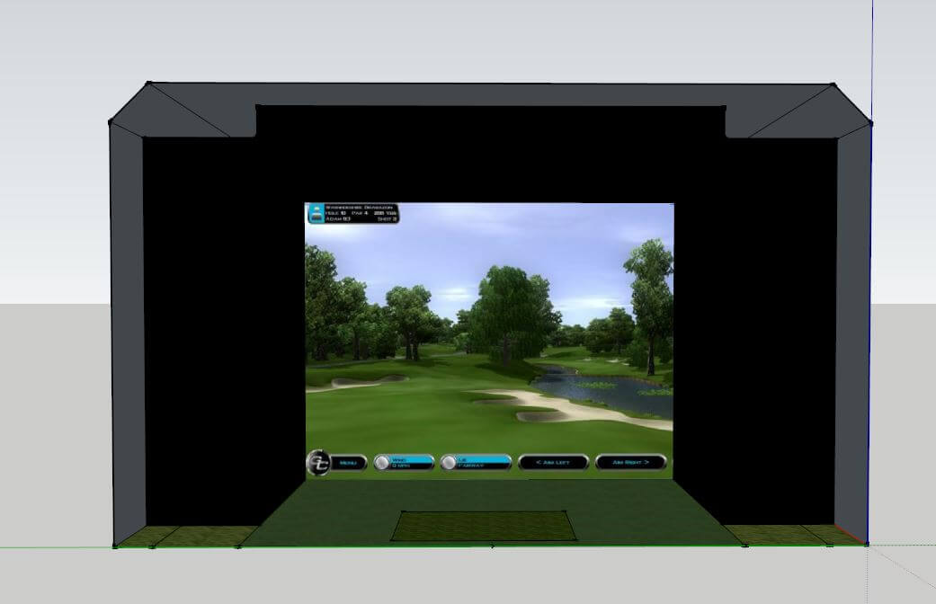 Golf Simulator for MB Golf Shop at Donnington Valley Golf Club