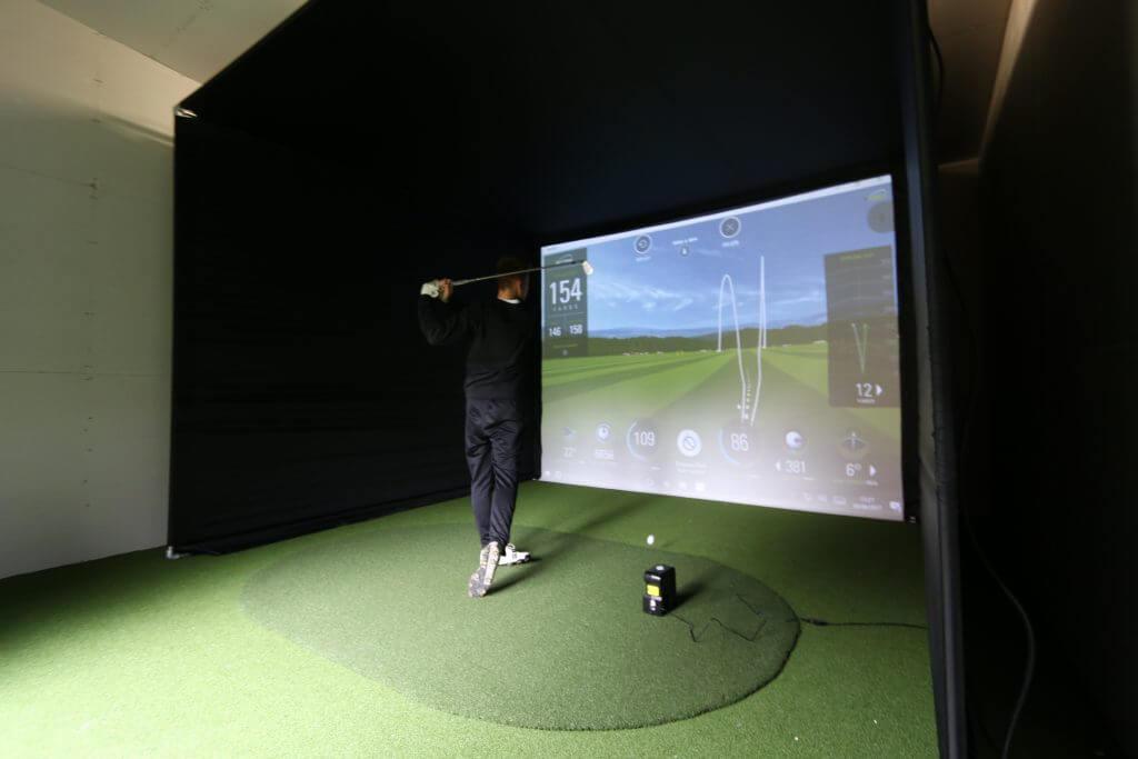 Skytrak Amp Home Golf Simulator Enclosure Golf Swing Systems