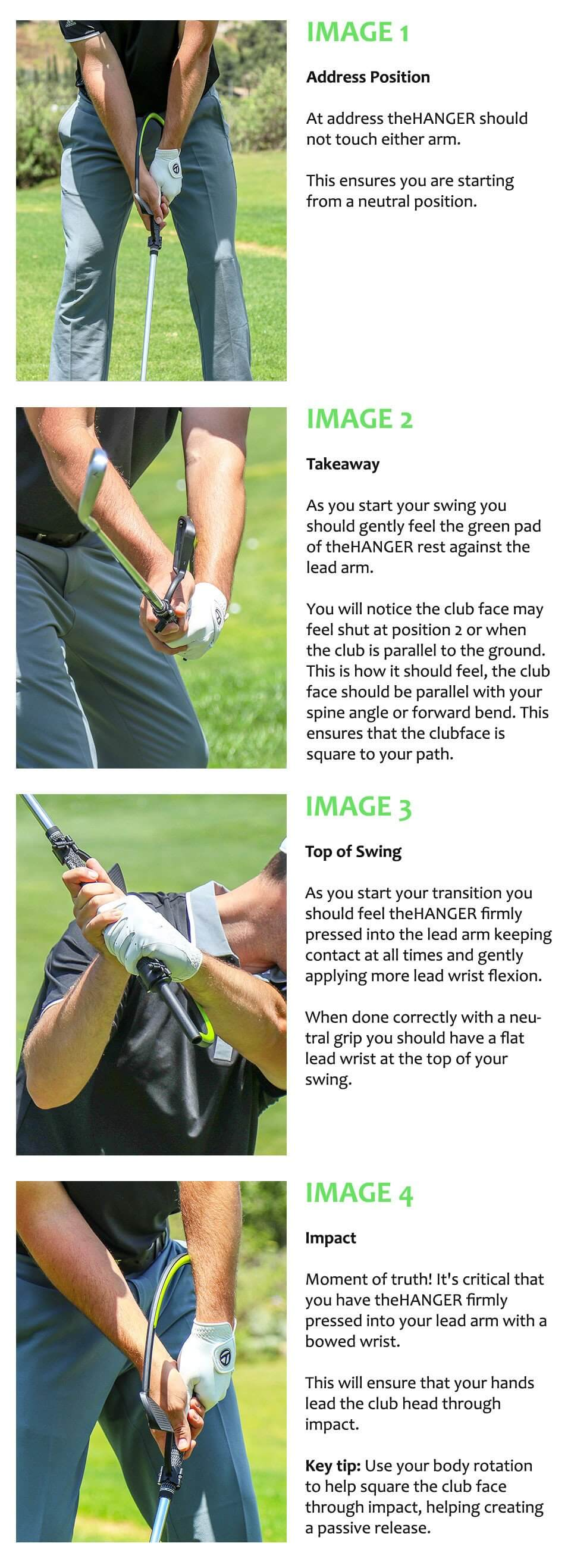 The Hanger Golf Swing Aid