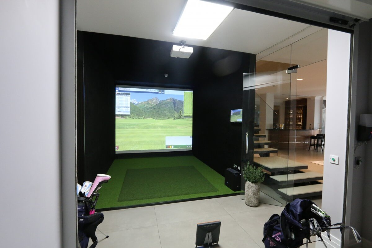 Trackman Tru Golf E6 Installation For Private Client In