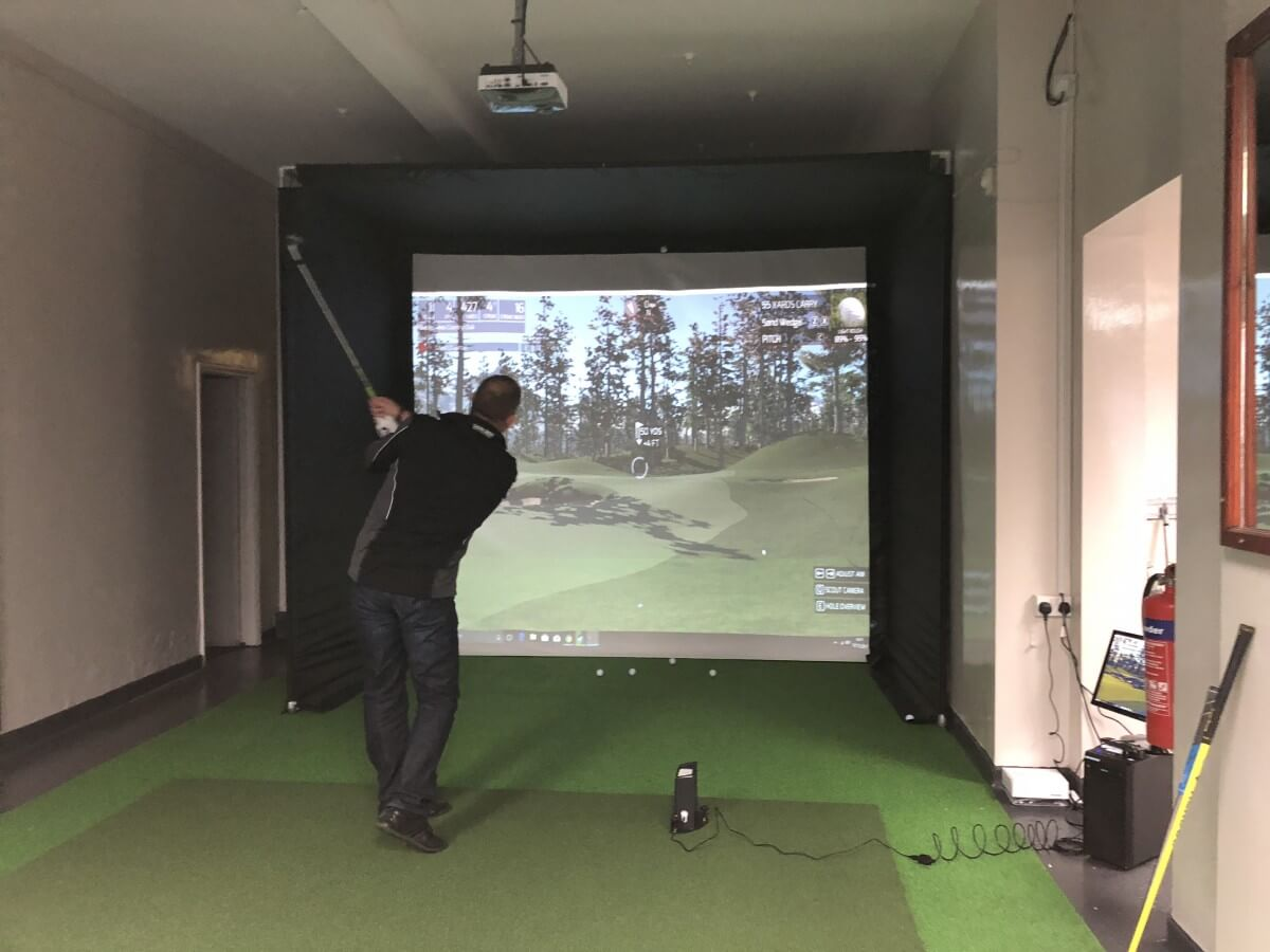 Golf Simulator Enclosure and Screen