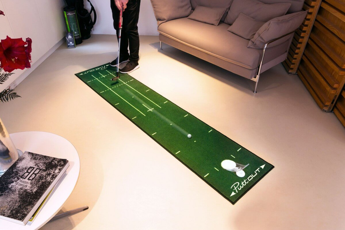Puttout Deluxe Putting Mat Golf Swing Systems
